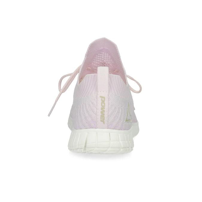 Růžové dámské tenisky v pleteném stylu power, růžová, 509-0211 - 15