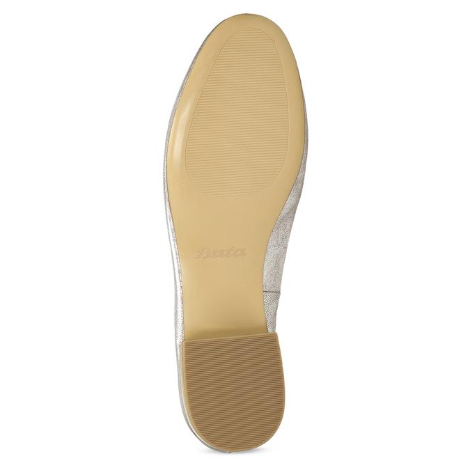Dámské stříbrné kožené mokasíny bata, stříbrná, 518-5605 - 18