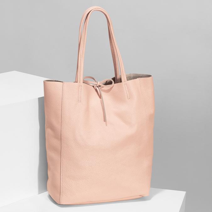 Růžová kožená kabelka bata, růžová, 964-5162 - 17