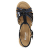 Dámské sandály na podpatku gabor, modrá, 663-6601 - 17