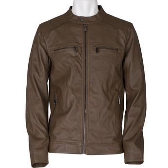 Pánská hnědá koženková bunda bata, hnědá, 971-3245 - 13