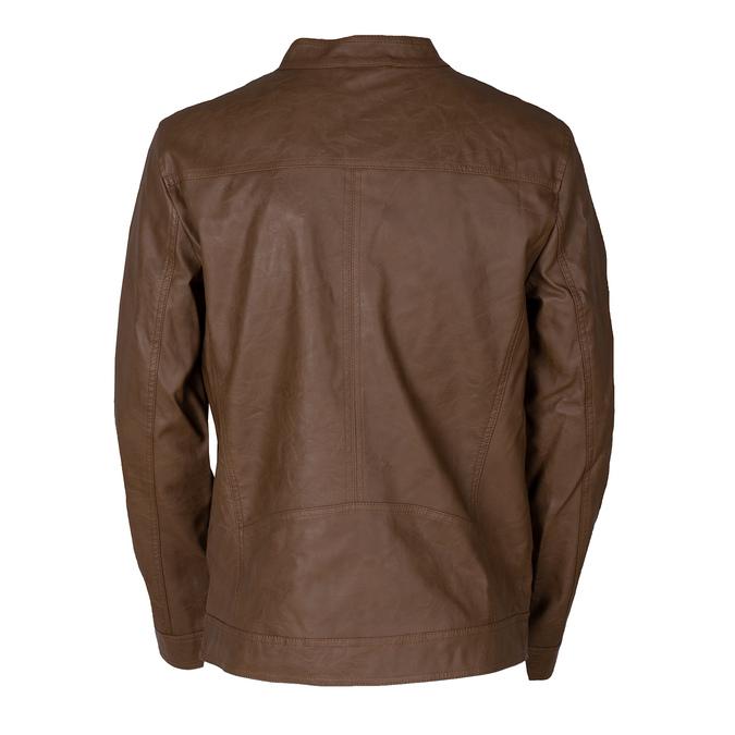 Pánská hnědá koženková bunda bata, hnědá, 971-3245 - 26