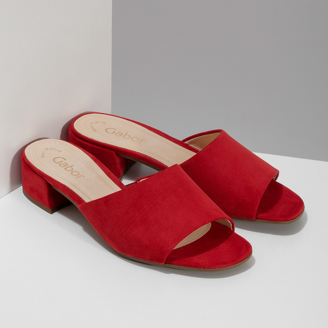 Nazouváky dámské červené gabor, červená, 661-5607 - 26