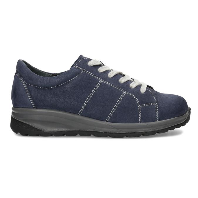 Kožené modré dámské tenisky comfit, modrá, 546-9600 - 19