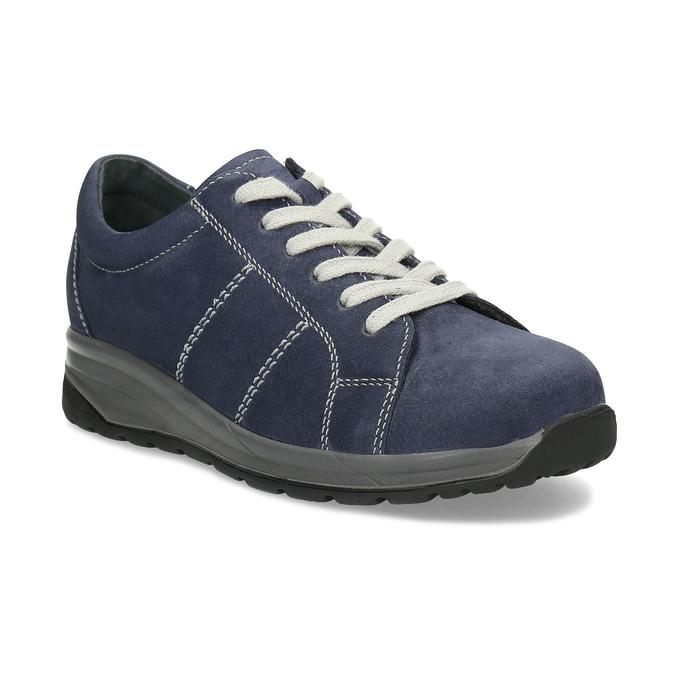 Kožené modré dámské tenisky comfit, modrá, 546-9600 - 13