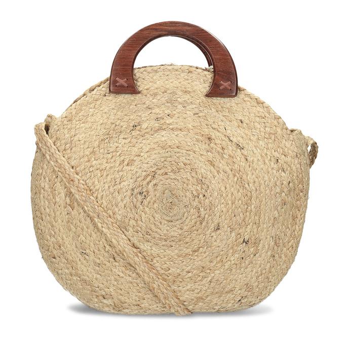 Dámská kabelka v přírodním designu bata, béžová, 969-8785 - 16