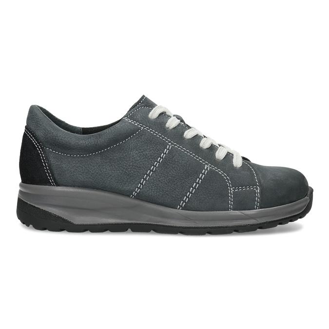 Kožené šedé dámské tenisky comfit, šedá, 546-2601 - 19