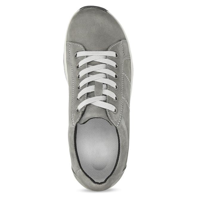 Dámské kožené šedé tenisky comfit, šedá, 546-2600 - 17