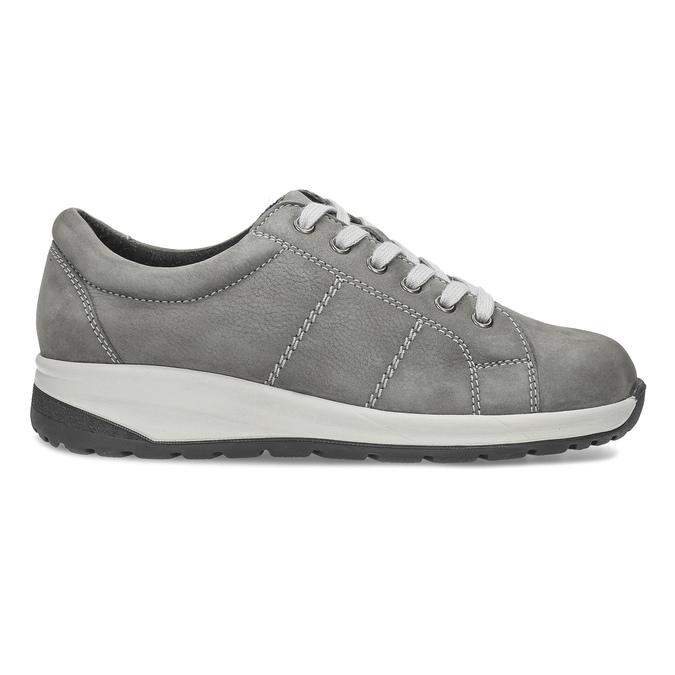 Dámské kožené šedé tenisky comfit, šedá, 546-2600 - 19