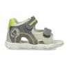 Šedé dětské sandály se zelenými detaily bubblegummers, šedá, 161-3614 - 19
