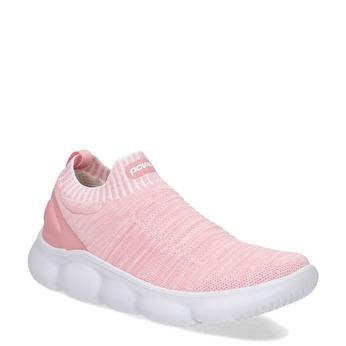Růžové dámské tenisky z úpletu power, růžová, 509-5236 - 13