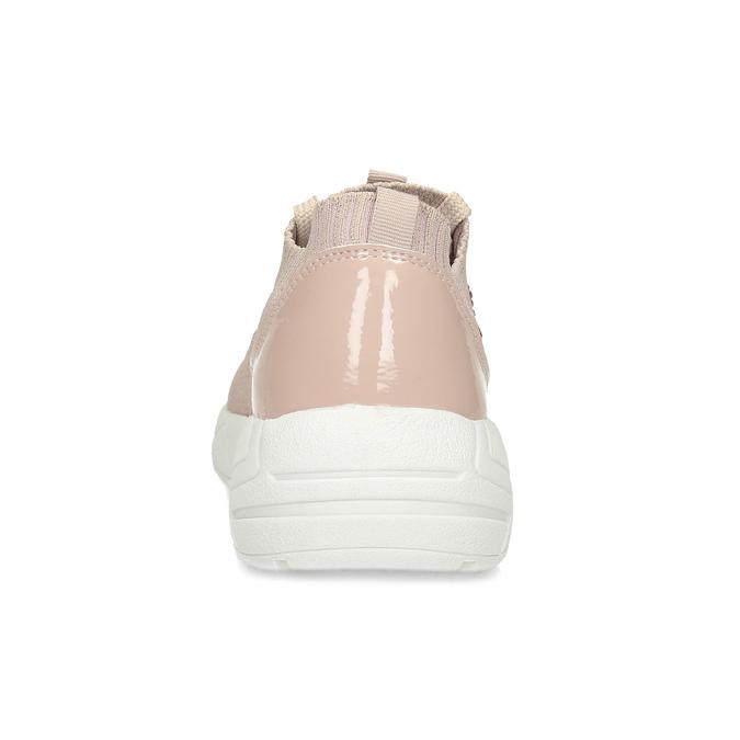 Dámské tenisky růžové s kamínky bata-light, růžová, 549-5615 - 15