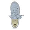 Modré dámské tenisky na přírodní flatformě bata, modrá, 559-9606 - 17