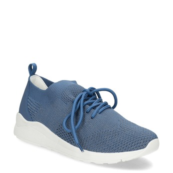 Dámské tenisky z úpletu modré bata-light, modrá, 549-9606 - 13