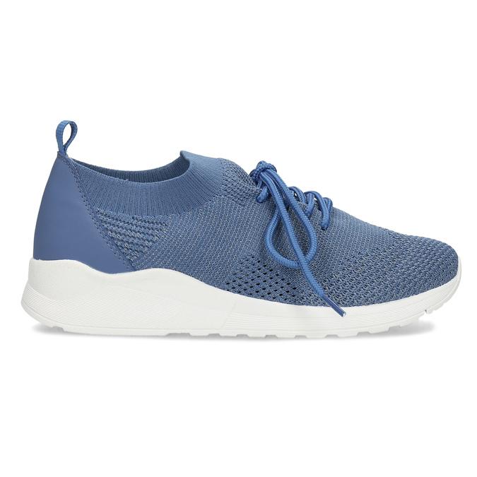 Dámské tenisky z úpletu modré bata-light, modrá, 549-9606 - 19