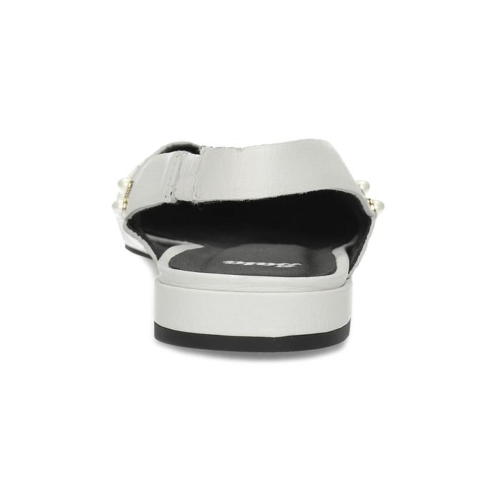 Kožené bílé Sling-back lodičky bata, bílá, 524-1601 - 15