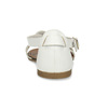 Bílé dámské kožené sandály vagabond, bílá, 564-1028 - 15