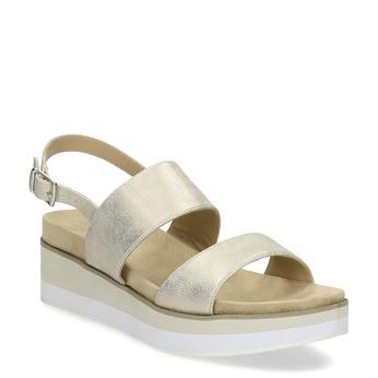 Dámské zlaté sandály na platformě bata, zlatá, 561-1632 - 13