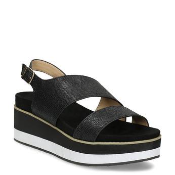 Černé dámské sandály na platformě bata, černá, 561-6631 - 13