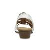 Bílé kožené sandály se stříbrnými detaily gabor, bílá, 664-1605 - 15