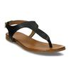 Černé dámské kožené sandály bata, černá, 564-6603 - 13