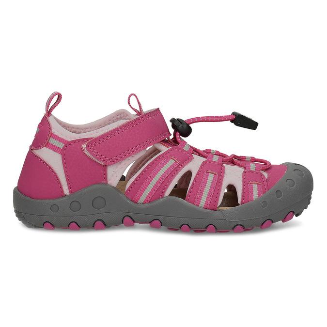 Růžové dívčí sandály outdoorového stylu mini-b, růžová, 261-5706 - 19