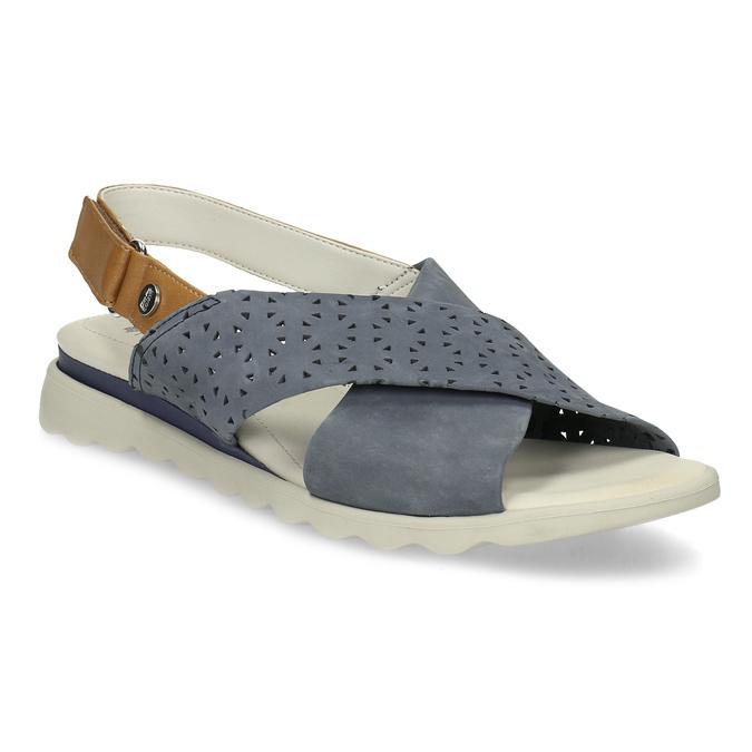 6a1005a69e Comfit Kožené dámské modré sandály s perforací - Ženy