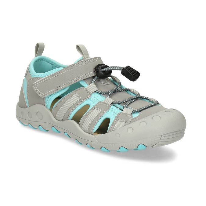 Šedé dětské sandály mini-b, šedá, 461-2716 - 13