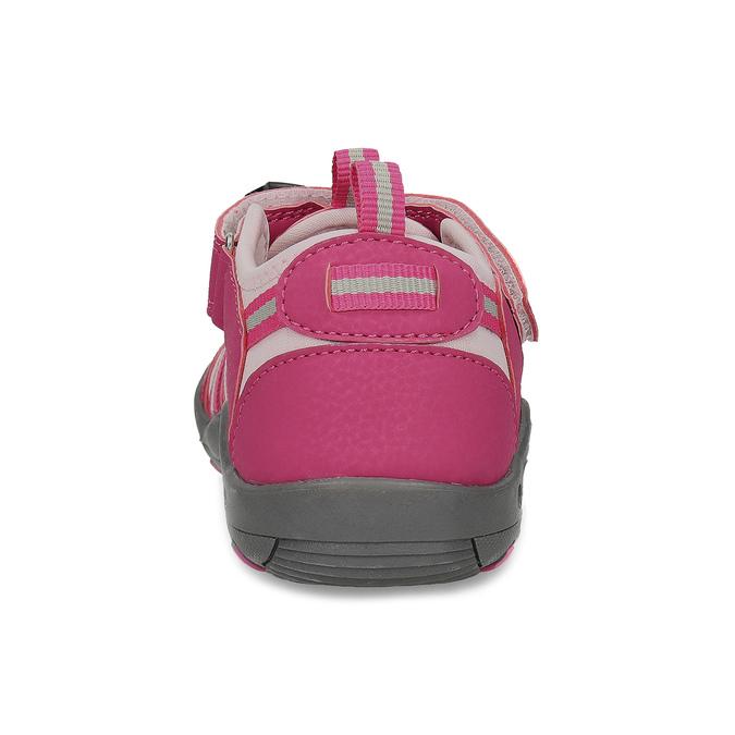 Růžové dívčí sandály outdoorového stylu mini-b, růžová, 261-5706 - 15