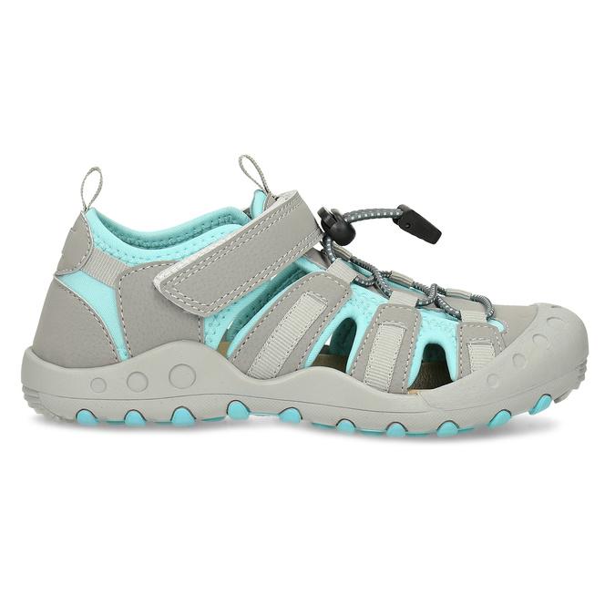 Šedé dětské sandály mini-b, šedá, 461-2716 - 19