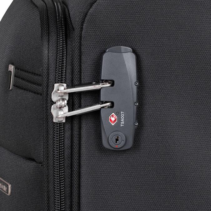 Černý kvalitní textilní kufr samsonite, černá, 960-6037 - 16