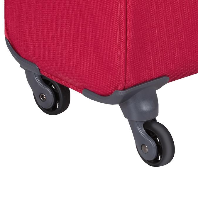 Červený střední textilní kufr samsonite, červená, 960-5039 - 15