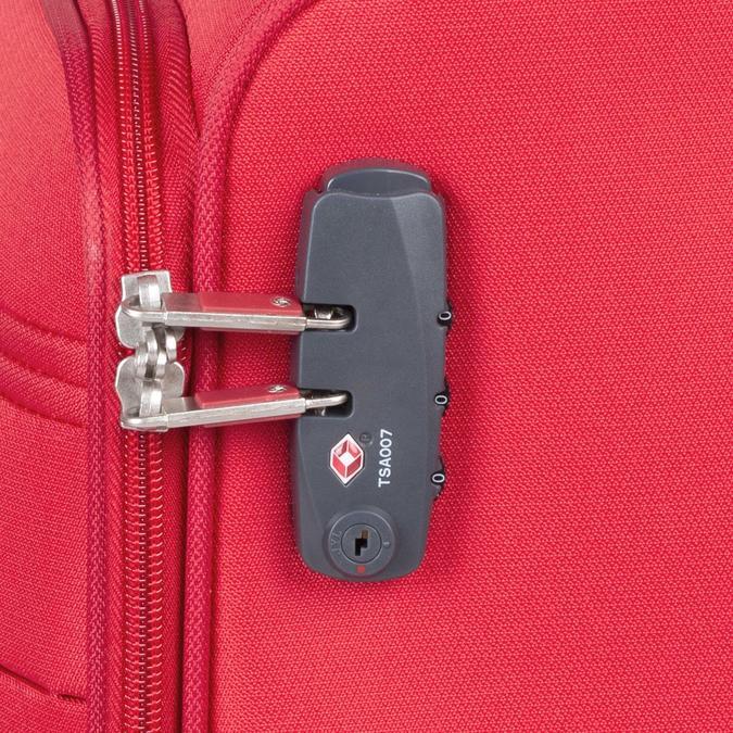 Kvalitní červený textilní kufr samsonite, červená, 960-5037 - 16