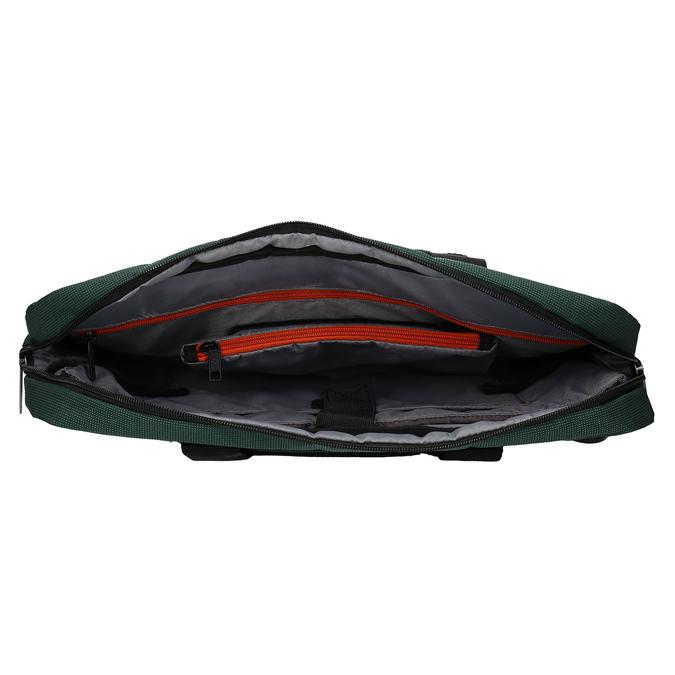 Zelená cestovní taška s popruhem samsonite, zelená, 960-7068 - 15
