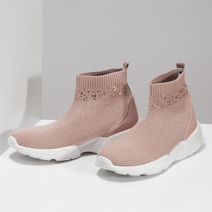 Dámské kotníčkové tenisky růžové bata-light, růžová, 599-5628 - 16
