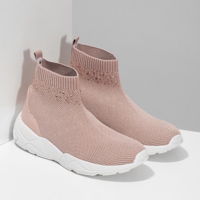 Dámské kotníčkové tenisky růžové bata-light, růžová, 599-5628 - 26