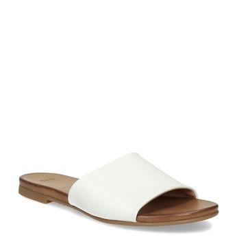 Dámské kožené nazouváky bílé bata, bílá, 564-1602 - 13