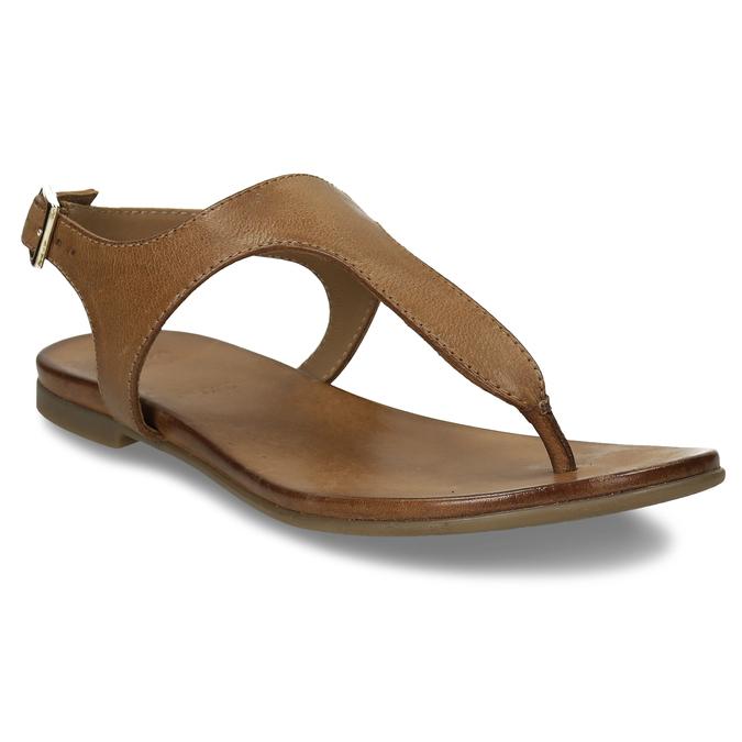 Hnědé kožené dámské sandály bata, hnědá, 564-3603 - 13