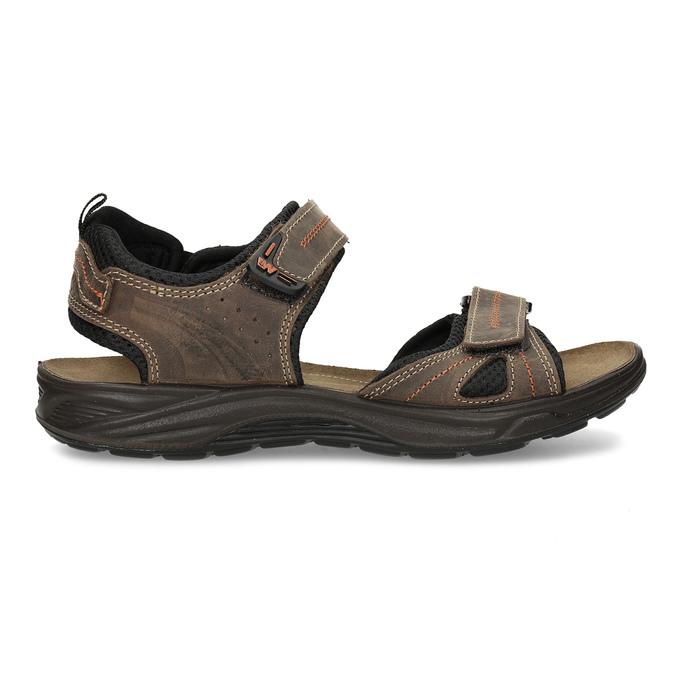 Hnědé pánské sandály z broušené kůže weinbrenner, hnědá, 866-4679 - 19