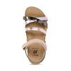 Dětské kožené sandály na suchý zip mini-b, zlatá, 466-8611 - 17