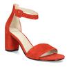 Červené kožené sandály na stabilním podpatku vagabond, červená, 623-5023 - 13