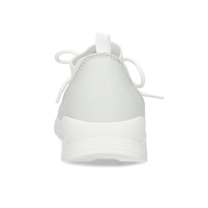 Bílé dámské tenisky z prodyšného úpletu bata-light, bílá, 549-1605 - 15