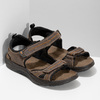 Hnědé pánské sandály z broušené kůže weinbrenner, hnědá, 866-4679 - 26