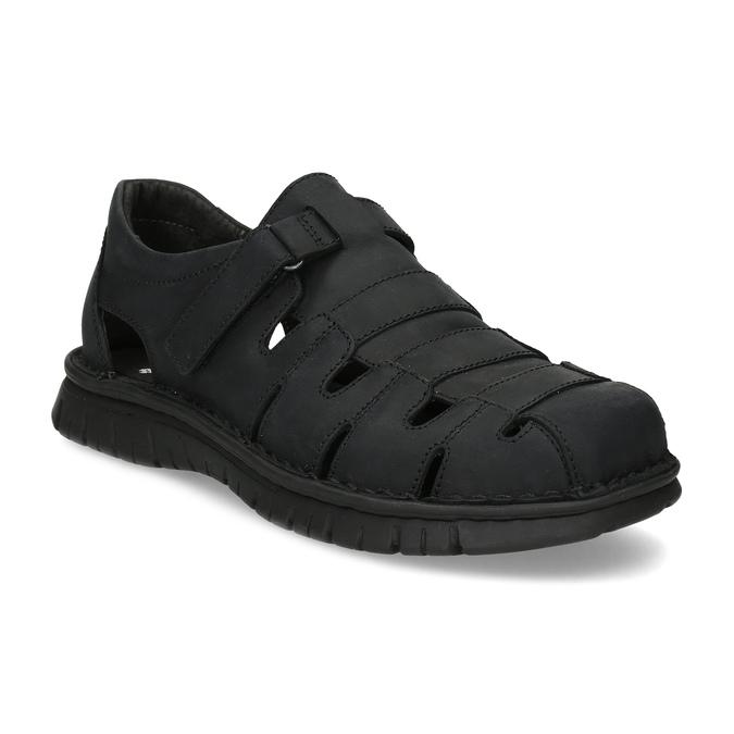 Pánské kožené černé sandály bata, černá, 866-6852 - 13