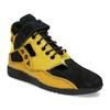 Žluté tenisky s černými detaily a průstřihy bata, žlutá, 544-8114 - 13