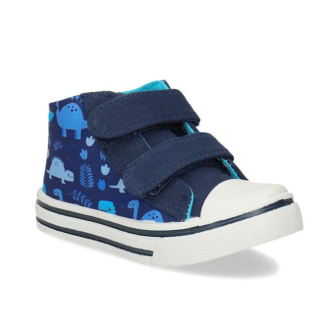 Dětské textilní tenisky bubblegummers, modrá, 119-9603 - 13