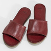 Vínové dámské nazouváky kožené bata, hnědá, 564-3602 - 16