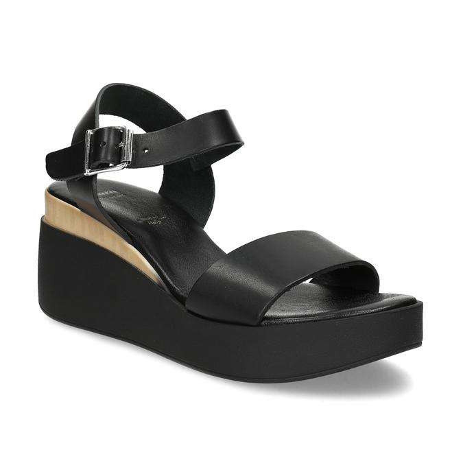 553fe17009 Bata Kožené černé sandály na platformě - Ženy