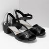 Dámské nazouváky na podpatku bata, černá, 664-6602 - 26