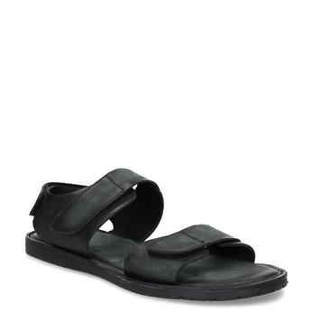 Černé pánské kožené sandály bata, černá, 866-6633 - 13